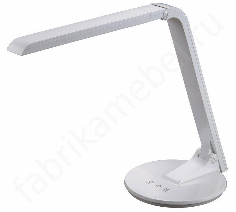 Настольная лампа positano, 1х60w (e27), h440, никель/текстиль антрацитовый